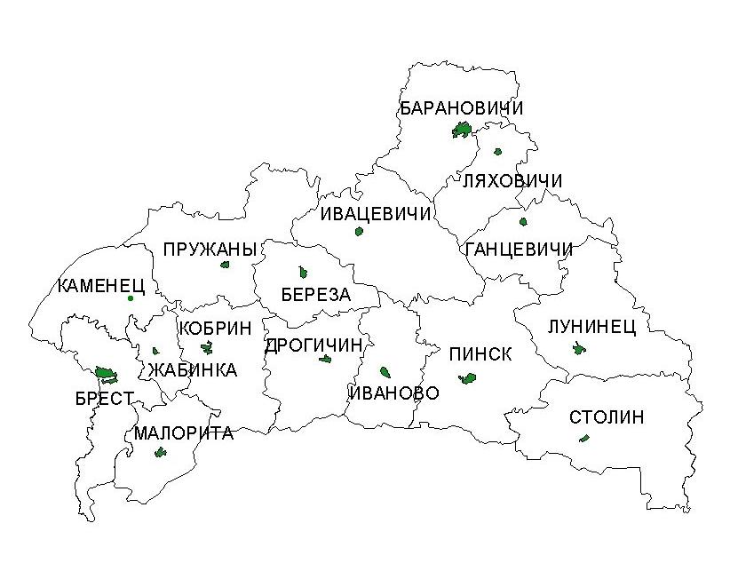 Такси из Москвы в Брестскую область Республики Беларусь