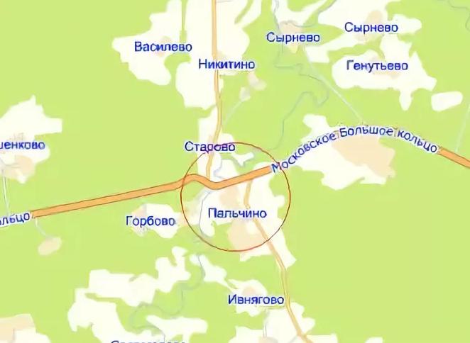 Деревня Пальчино Московской области