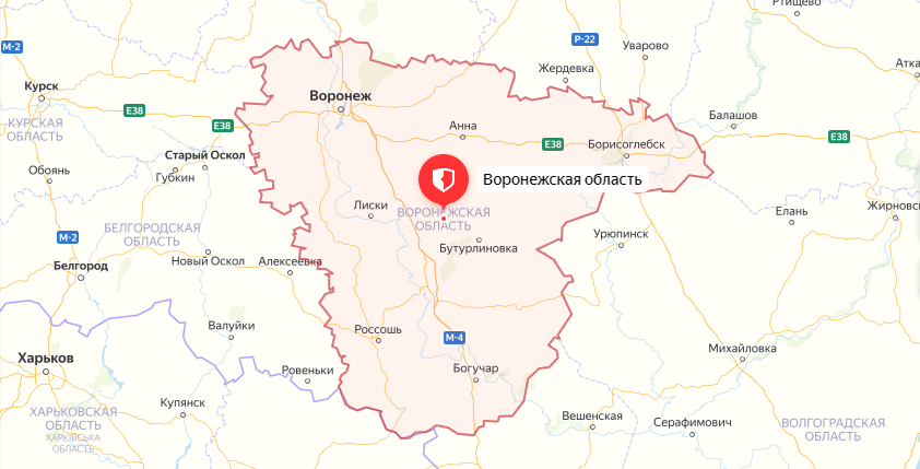 Такси в Воронежскую область из Москвы по фиксированной стоимости.